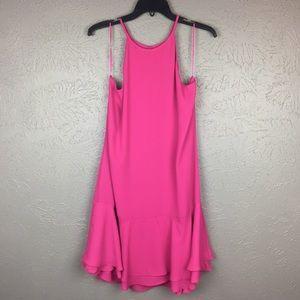 New Nordstrom Charles Henry Fuchsia Halter Dress
